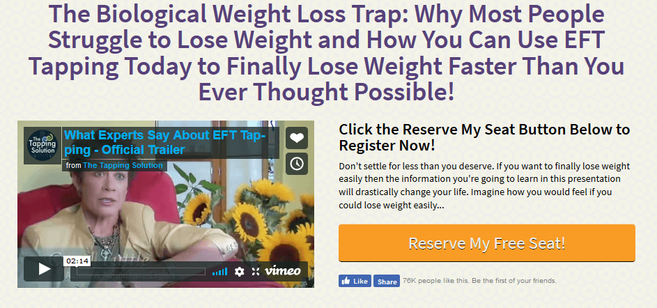 lose weight with eft tapping solution