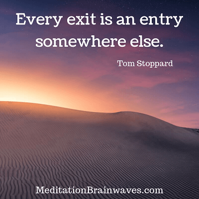 Tom Stoppard every exit is an entry somewhere else