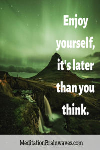 enjoy yourself it is later than you think