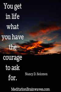 quote about life and courage