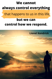We cannot always control everything