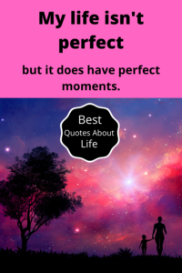 my life is not perfect but it does have perfect moments