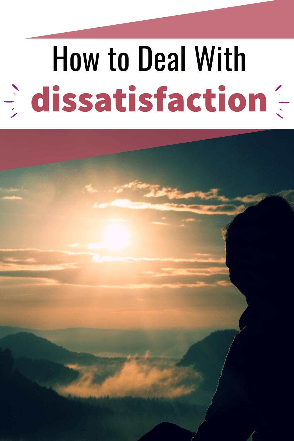 how to deal with dissatisfaction