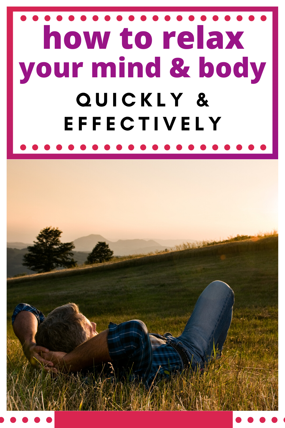 relax your mind and body quickly