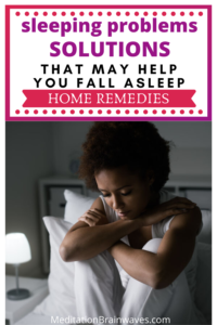sleeping problems home remedies