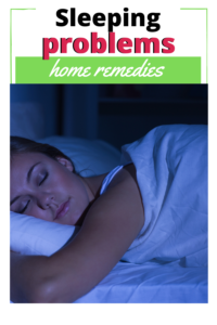home remedies sleeping problems